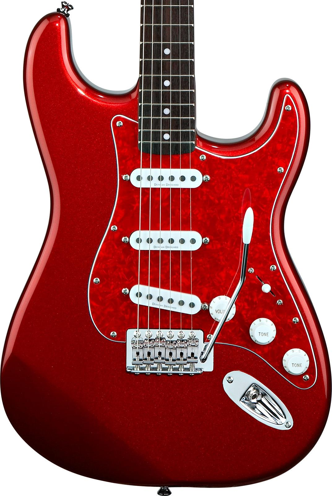 Fender Stratocaster Neck >> Squier Vintage Modified Stratocaster Metallic Red Rosewood ...