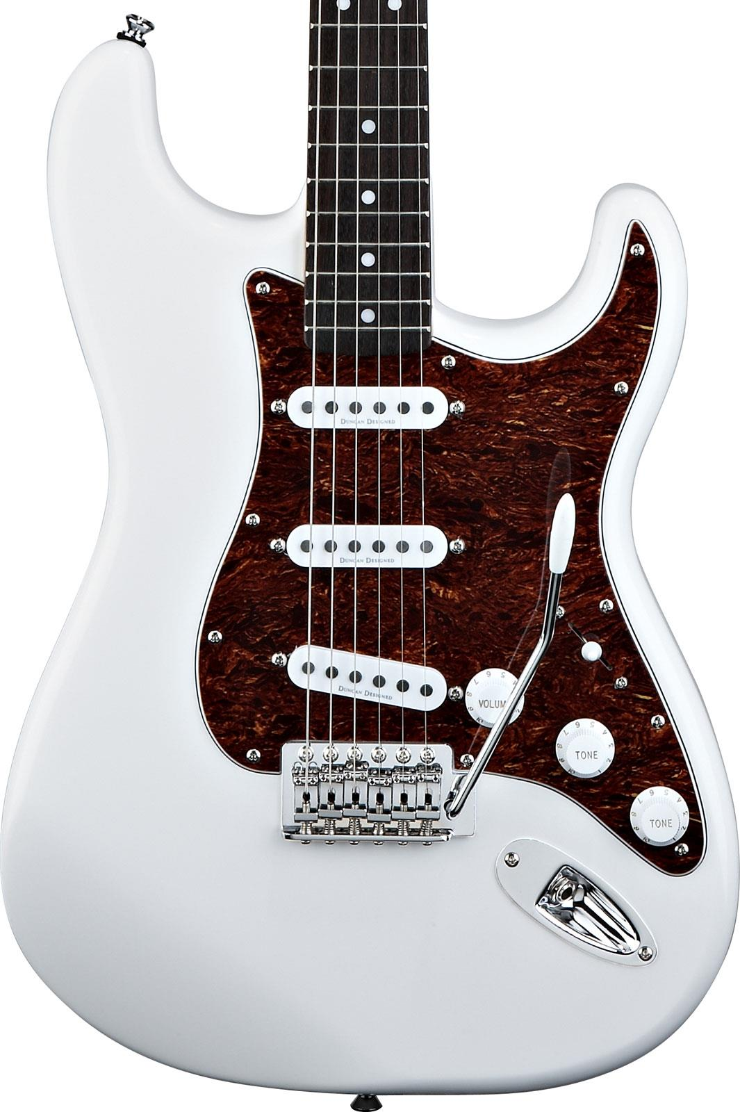 squier vintage modified stratocaster olympic white rosewood keymusic