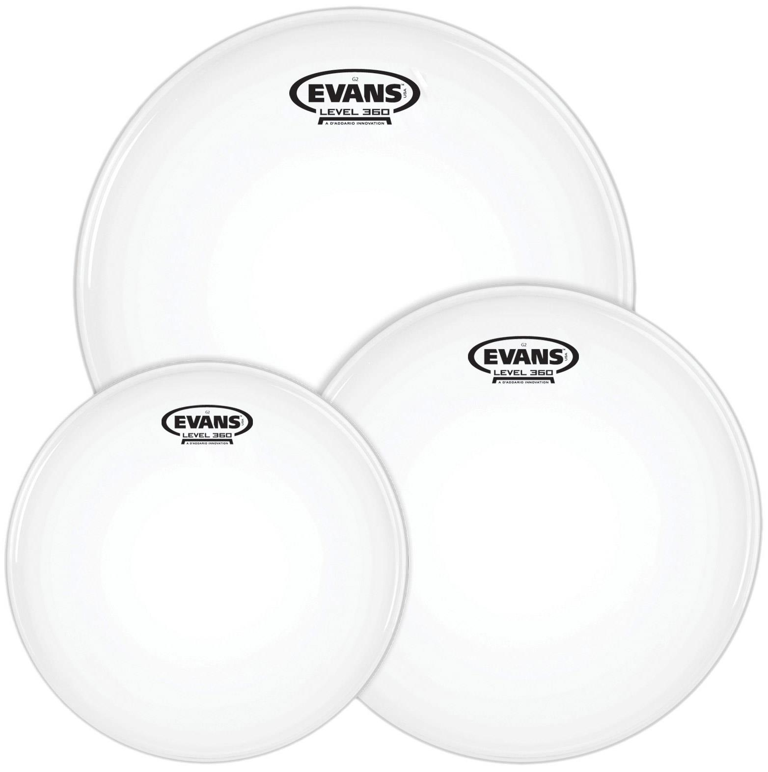 ETP-G2CLR-F Evans G2 10 Clear 12 14 inch Fusion Tom drum Pack