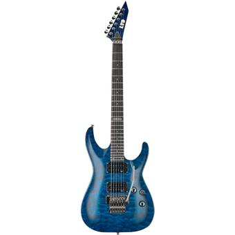 ESP LTD MH100QM See Thru Blue guitare électrique