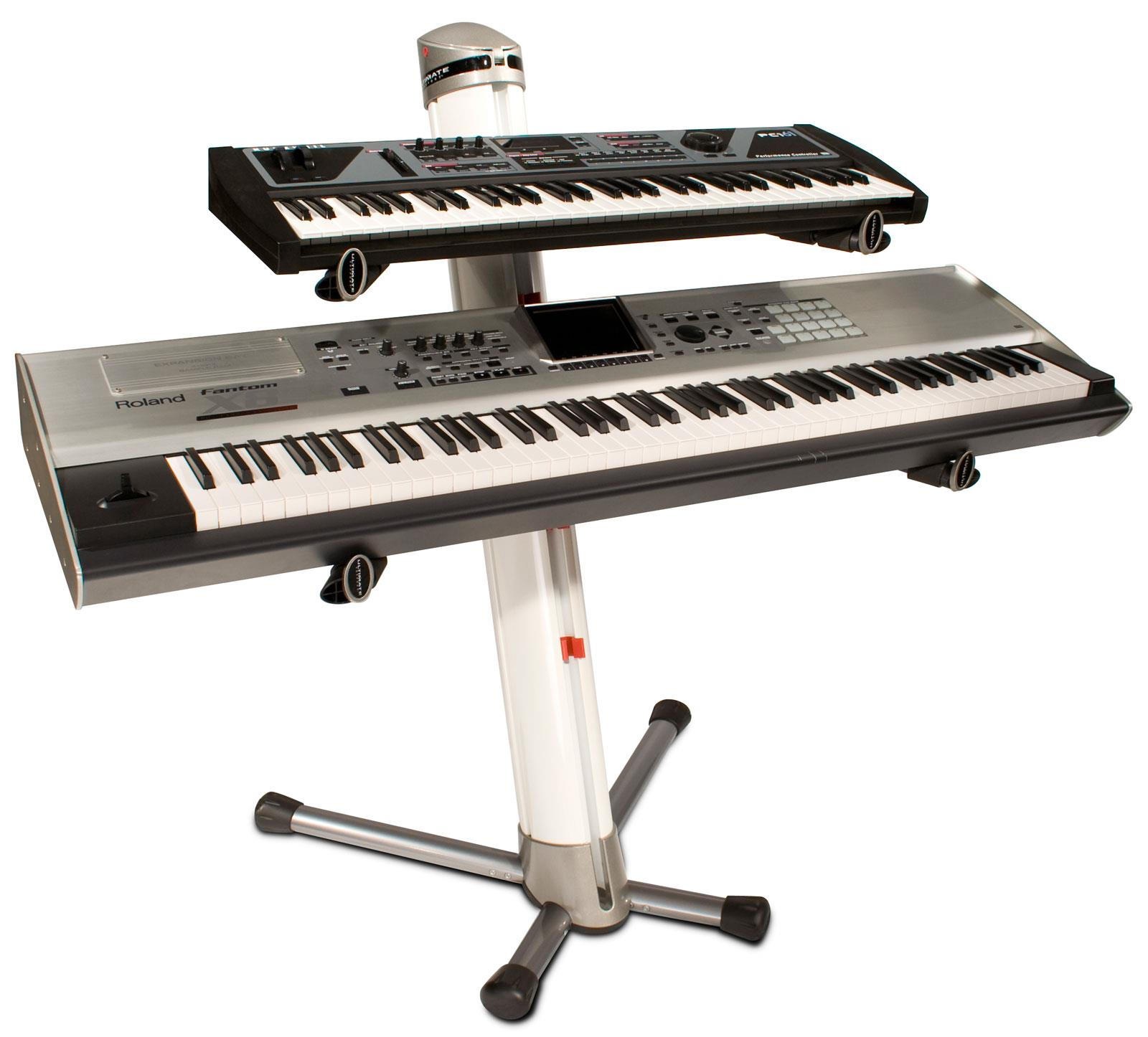 Ultimate Ax90 Apex Column Keyboard Stand White Keymusic