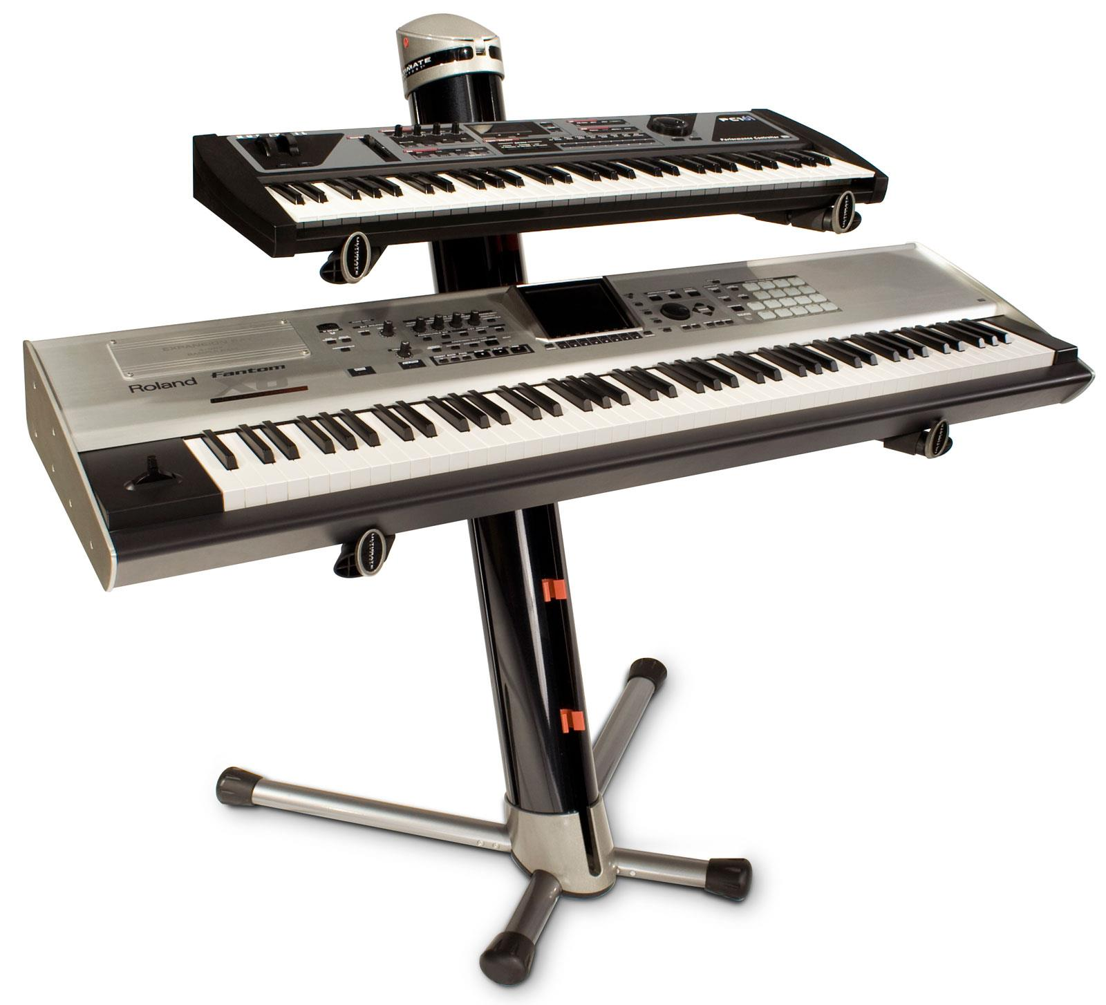 Ultimate Ax90 Apex Column Keyboard Stand Black Keymusic