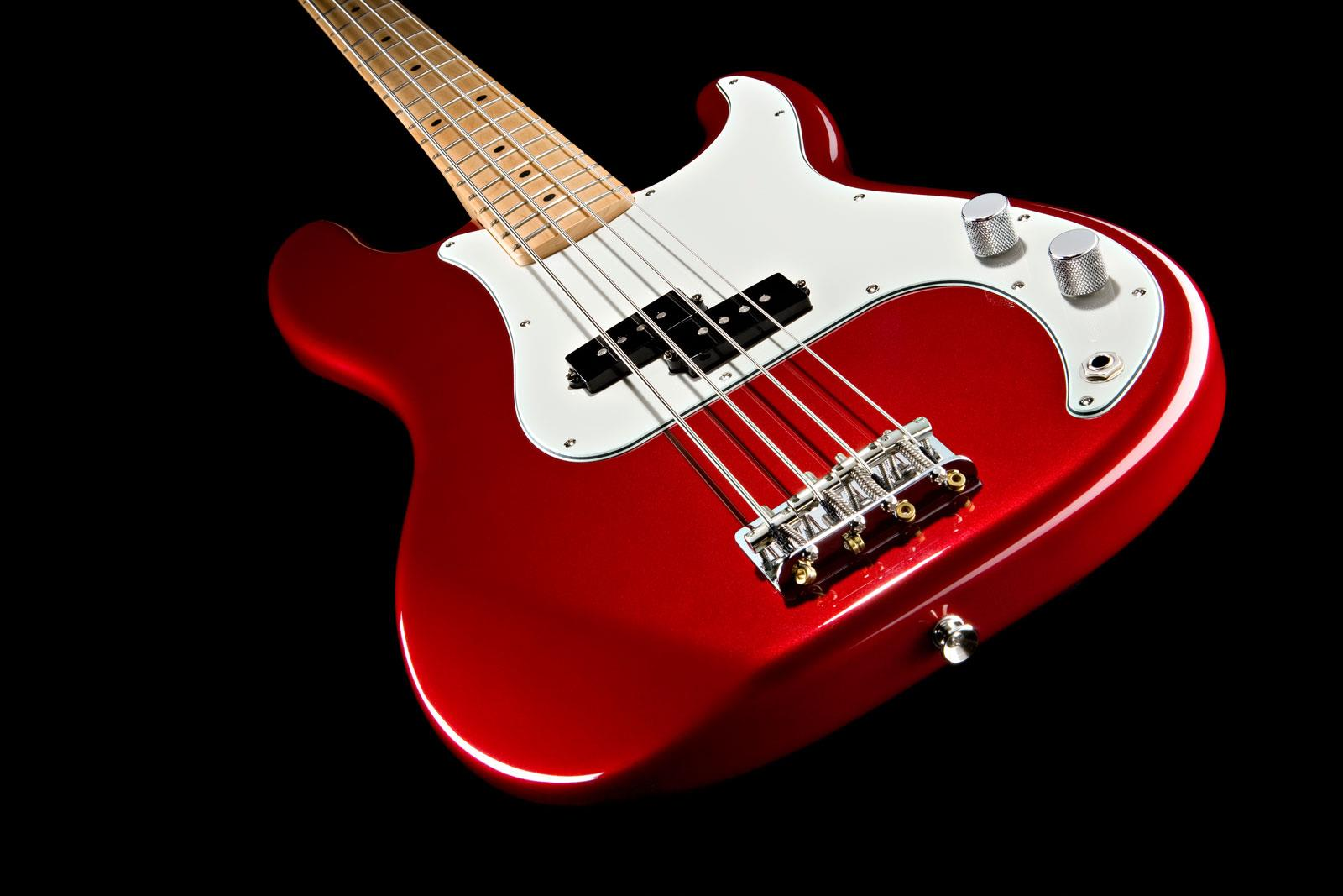 fender standard precision bass candy apple red maple keymusic. Black Bedroom Furniture Sets. Home Design Ideas