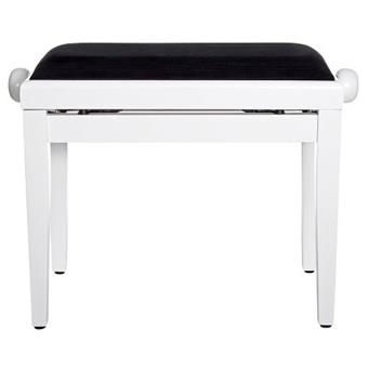 Stagg Pb40 White Polished Deluxe Piano Bench Keymusic