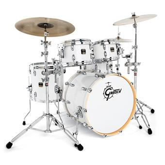 Gretsch Drums RNE624 Renown Maple Piano White acoustic drum kit