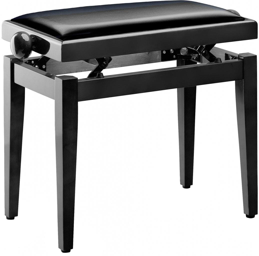 Stagg Pb40 Black Polished Piano Bench With Sky Black Top