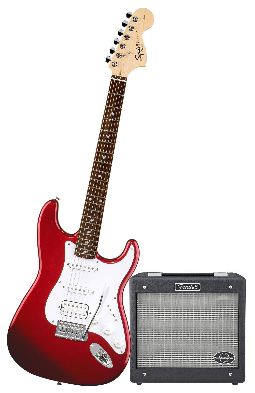 squier affinity strat hss pack metallic red keymusic. Black Bedroom Furniture Sets. Home Design Ideas