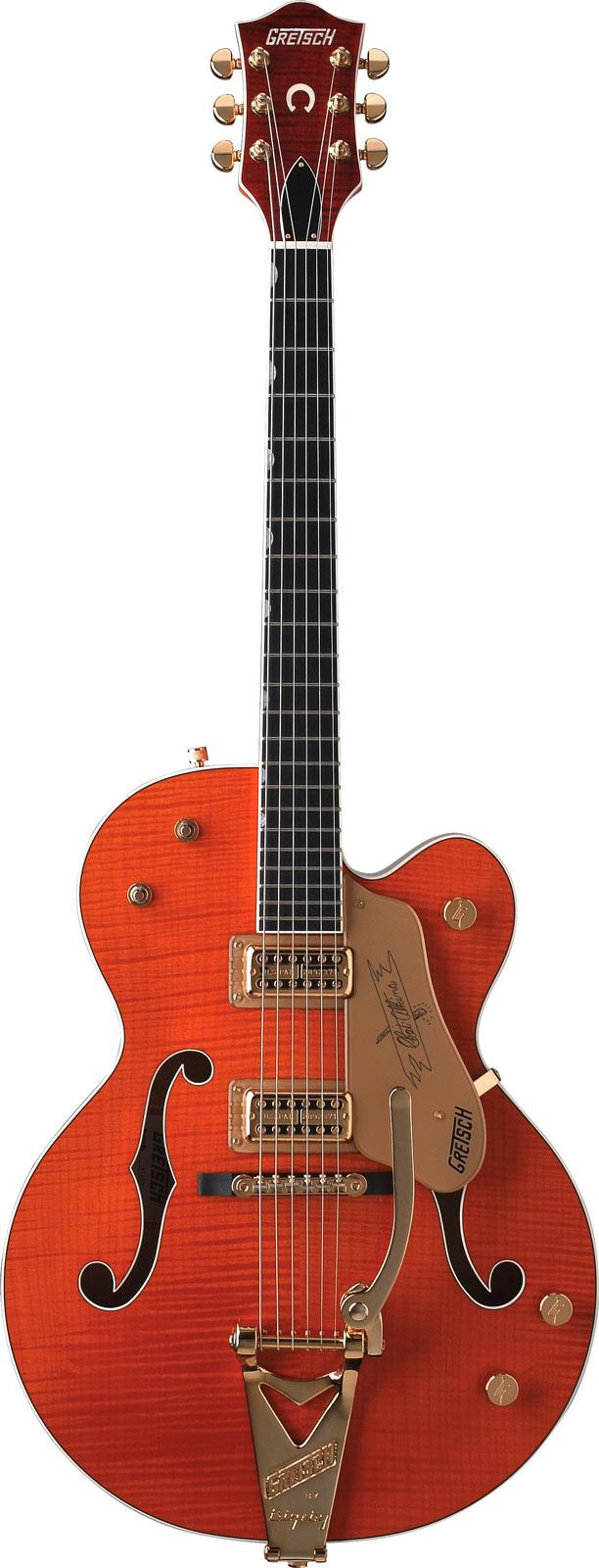 gretsch g6120tm chet atkins hollow body tiger maple keymusic. Black Bedroom Furniture Sets. Home Design Ideas