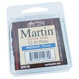 Martin APK1M Medium Guitar Picks 12-Pack