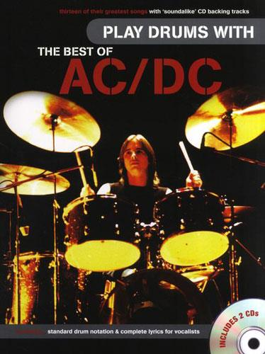 hal leonard play drums with the best of acdc keymusic. Black Bedroom Furniture Sets. Home Design Ideas