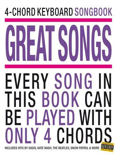 Hal Leonard 4 Chord Keyboard Songbook Great Songs Keymusic