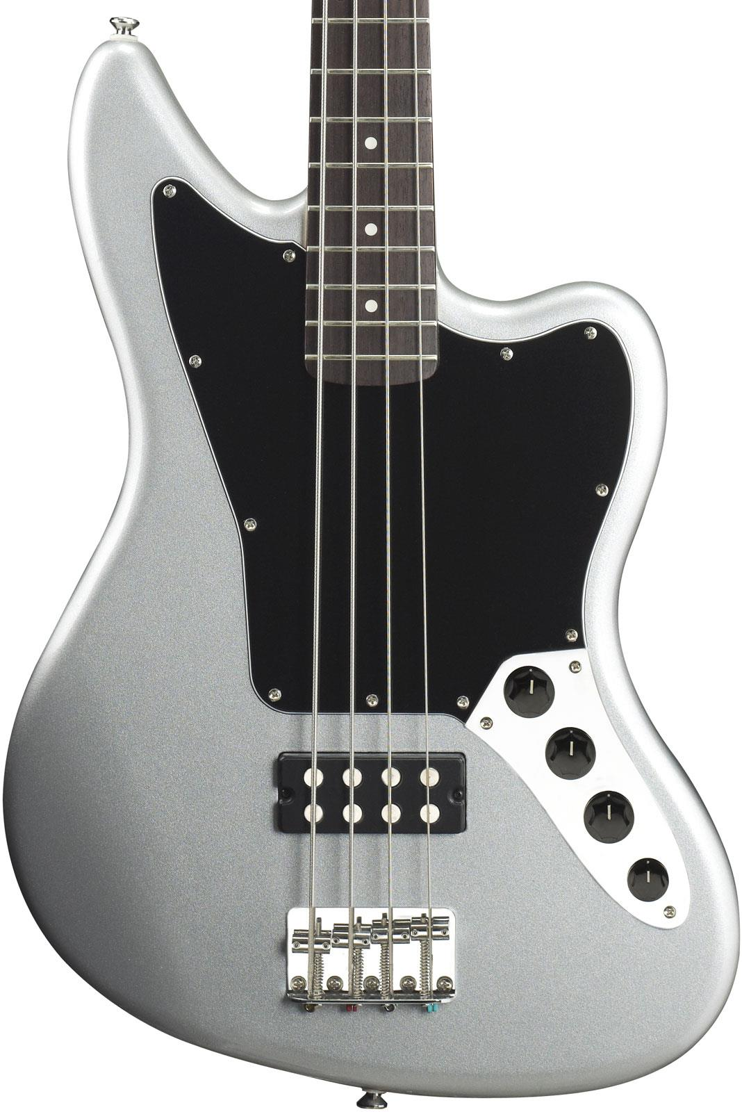 squier vintage modified jaguar bass special hb silver keymusic. Black Bedroom Furniture Sets. Home Design Ideas