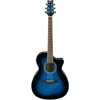 Ibanez A300E Transparent Blue Sunburst acoustic-electric cutaway orchestra guitar