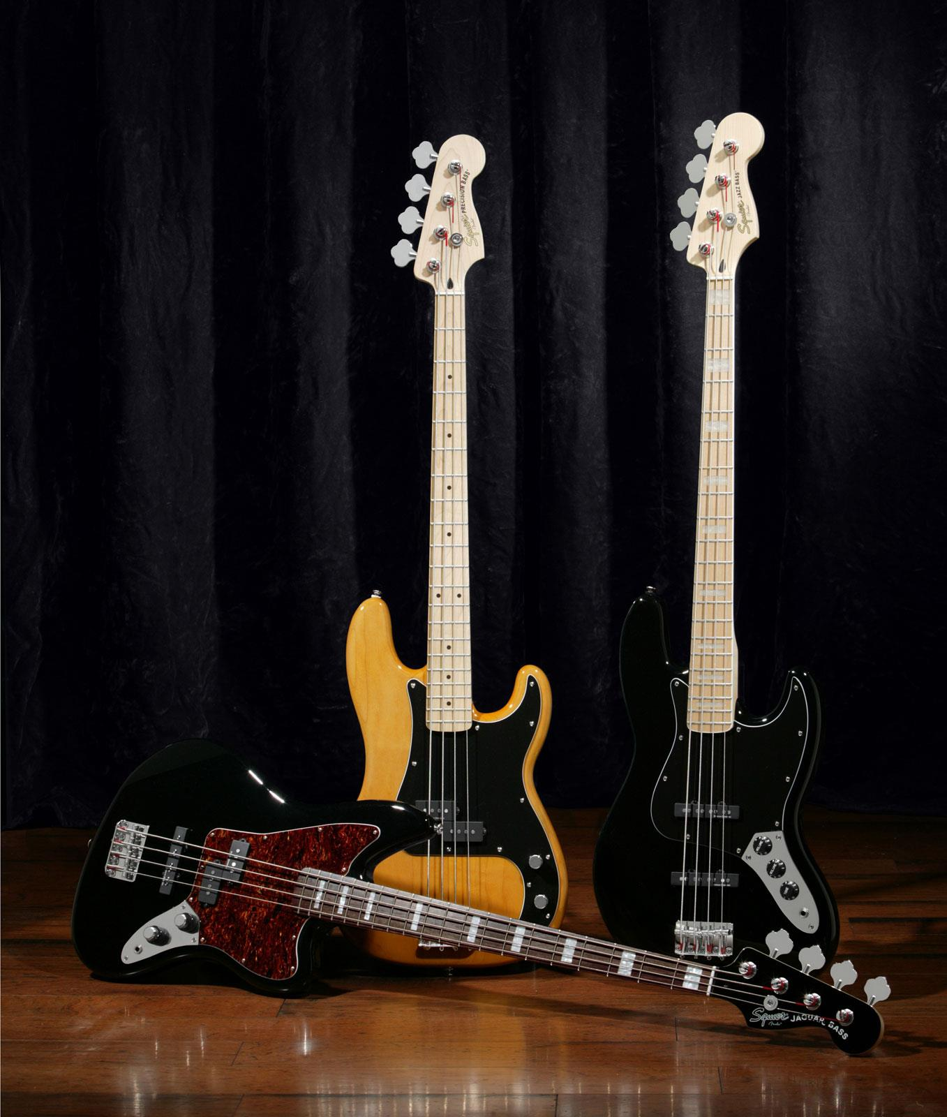 Squier Vintage Modified Jazz Bass 77 Duncan Black | Keymusic