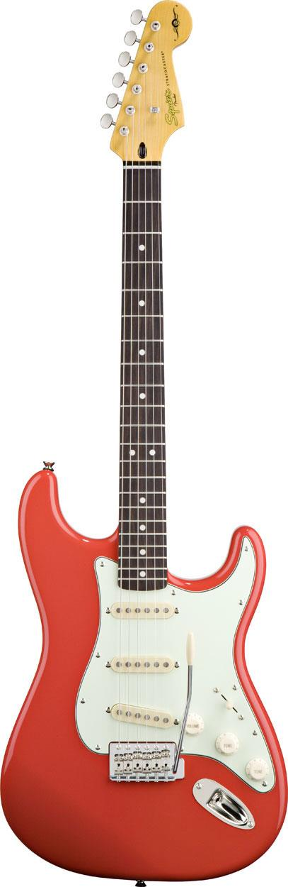squier simon neil stratocaster fiesta red keymusic. Black Bedroom Furniture Sets. Home Design Ideas