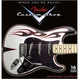 Fender Custom Shop Wall Calendar 2012