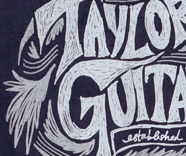 Taylor Ware Sketch T Shirt Navy L Keymusic