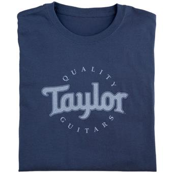Taylor Ware Logo T Shirt Blue XXL guitar merchandise/collectible