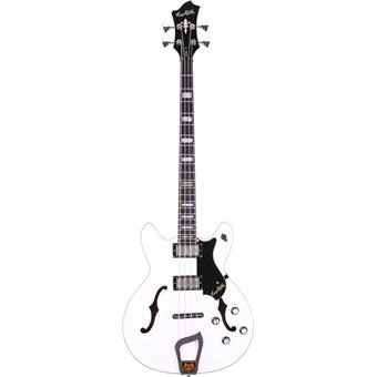 Hagström Viking Bass White Gloss 4 string bass guitar
