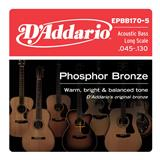 D'Addario EPBB170-5 Phosphor Bronze 5-String Acoustic Bass 45-130