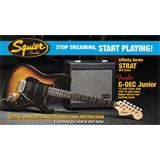 Squier Affinity Strat HSS Pack GDec Jr Black Sunburst