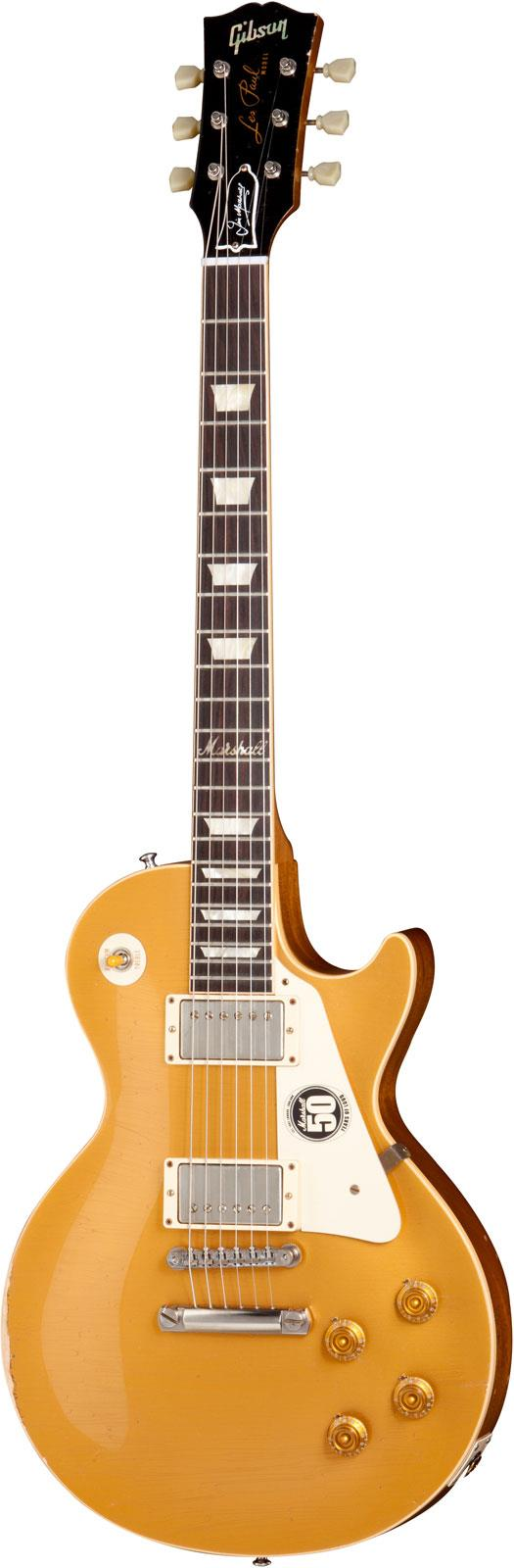 Gibson 50th anniversary of marshall les paul goldtop aged for Chitarre magazine