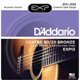 D'Addario EXP13 Coated 80/20 Bronze Custom Light 11-52