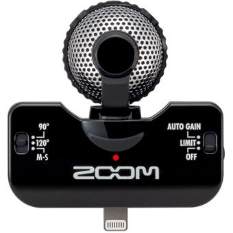 Zoom IQ5 Black reporter/camera microphone