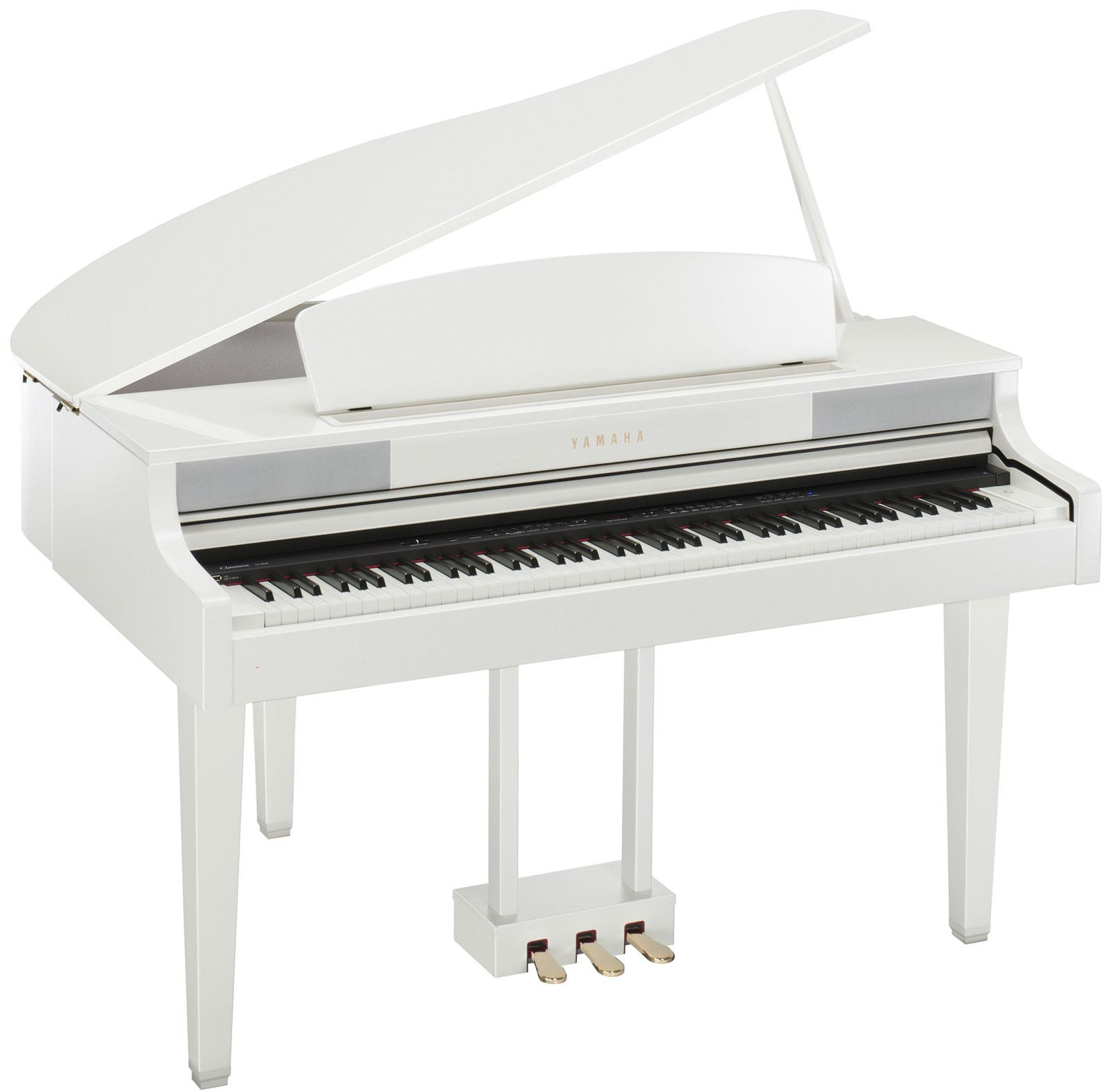 Yamaha clp 465gp white keymusic for White yamaha piano