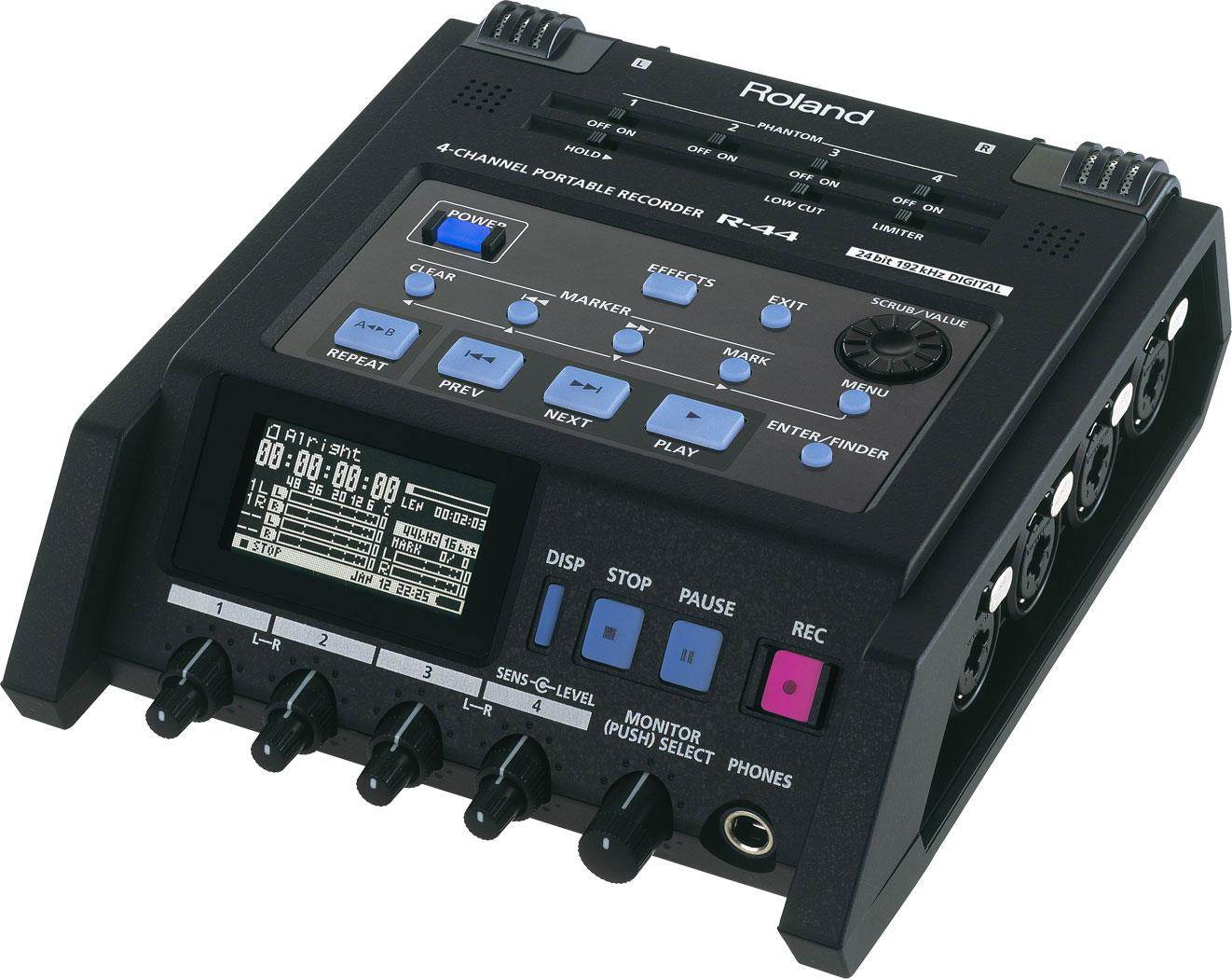 roland r 44r field recorder keymusic. Black Bedroom Furniture Sets. Home Design Ideas