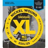 D'Addario ESXL125 Super Light Top Regular Bottom Double BallEnd