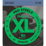 D'Addario EPS530 ProSteels Extra-Super Light 8-38