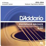 D'Addario EJ37 Phosphor Bronze Med Top/Heavy Bot 12-String 12-54