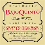 D'Addario J85 Phosphor Bronze Bajo Quinto Strings Loop End
