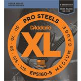 D'Addario EPS160-5 ProSteels 5-String Bass Medium 50-135