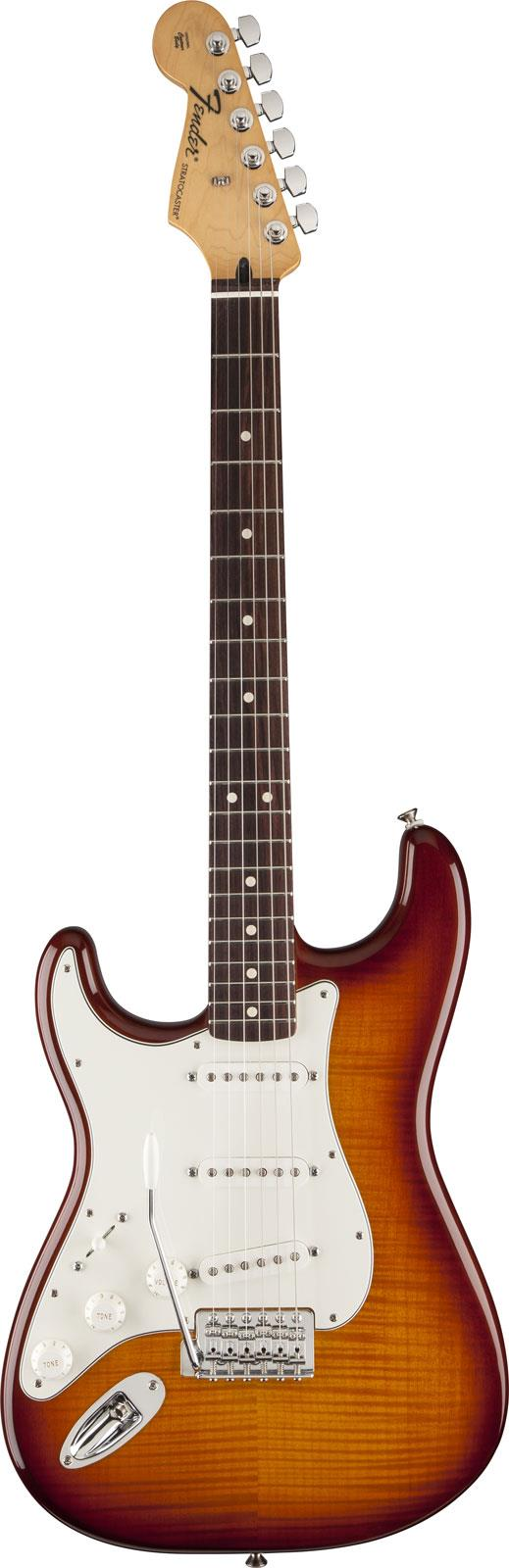 fender standard stratocaster lh plus top rw tobacco sunburst keymusic. Black Bedroom Furniture Sets. Home Design Ideas