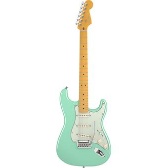 Fender American Deluxe Stratocaster V Neck Surf Green electric guitars
