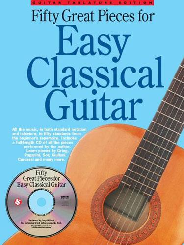 hal leonard 50 great pieces for easy classical guitar book keymusic. Black Bedroom Furniture Sets. Home Design Ideas