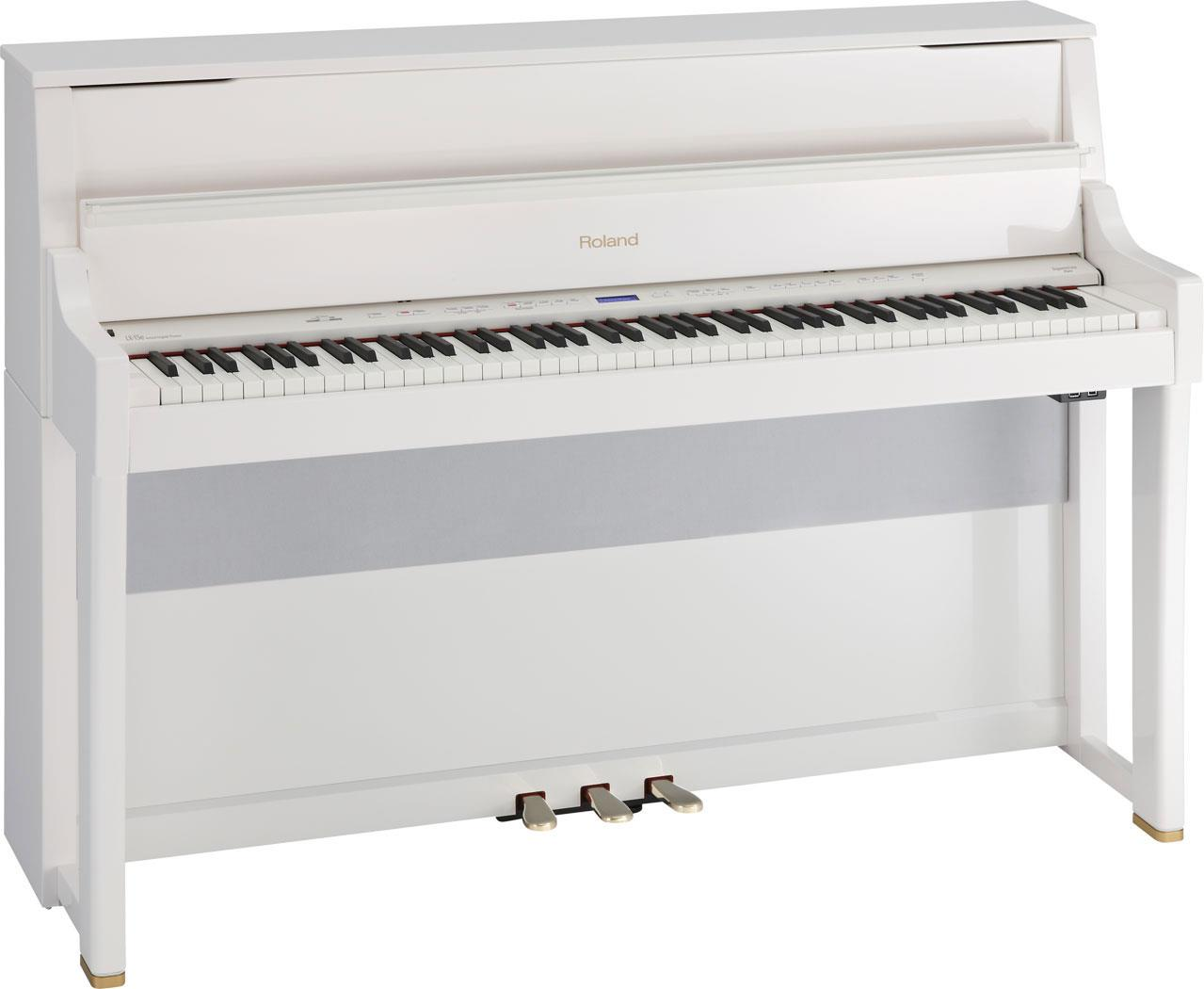 roland lx 15e pw digital piano polished white keymusic. Black Bedroom Furniture Sets. Home Design Ideas