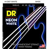 DR NWB-45 Neon Hi-Def White Bass Medium 45-105