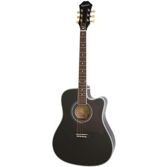 Epiphone FT-350SCE Ebony acoustic-electric cutaway dreadnought guitar
