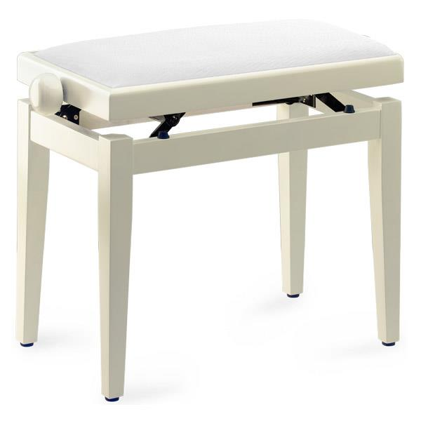 Stagg Pb39 Piano Bench Ivory White Velvet Top Keymusic