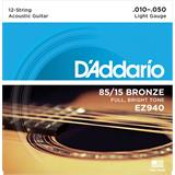 D'Addario EZ940 American Bronze 85/15 Light 12-String 10-50