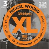 D'Addario EXL110-4PBT Regular Light