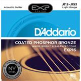 D'Addario EXP16NY Coated Phosphor Bronze Light 12-53