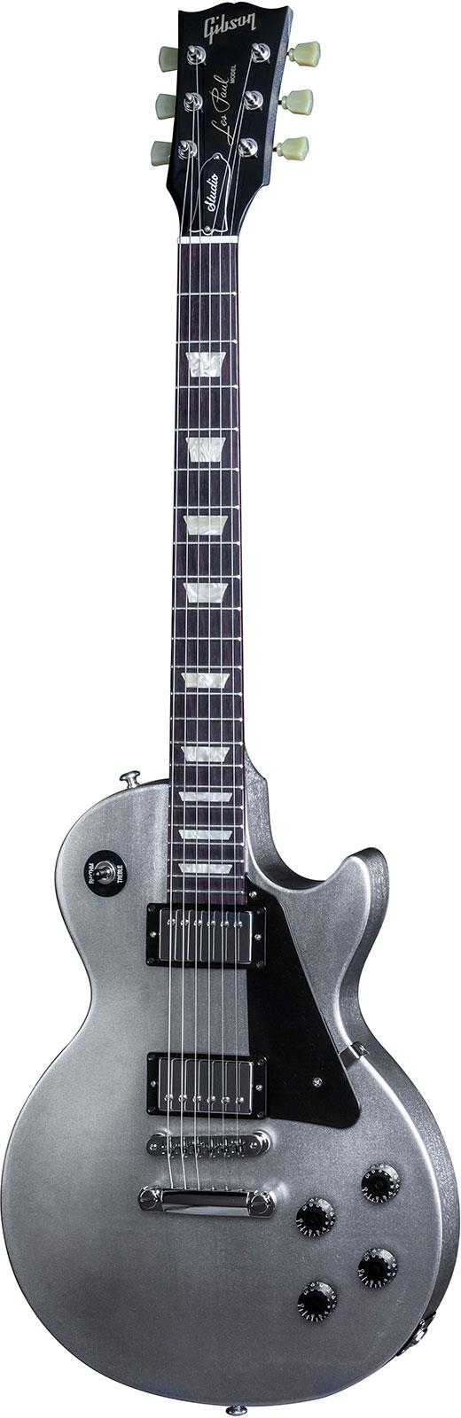 gibson les paul studio 2016 t electric guitar – silver pearl