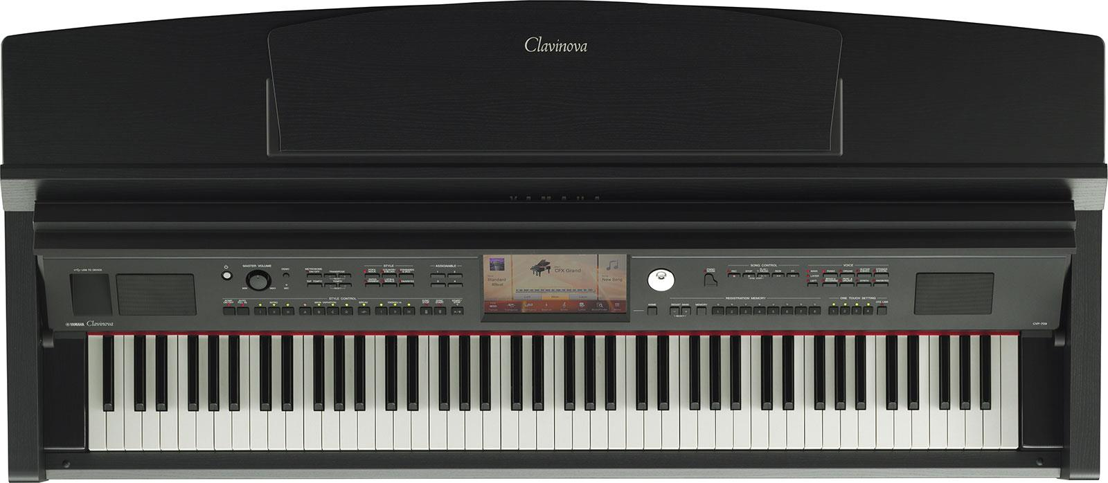 yamaha clavinova cvp 709b black walnut keymusic. Black Bedroom Furniture Sets. Home Design Ideas