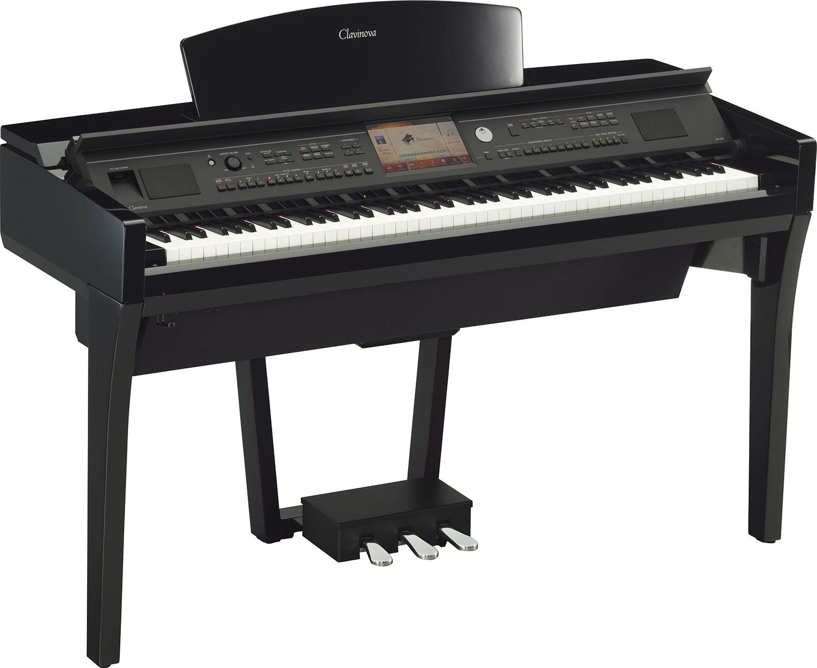 Yamaha clavinova cvp 709pe polished ebony keymusic for Yamaha clavinova price list
