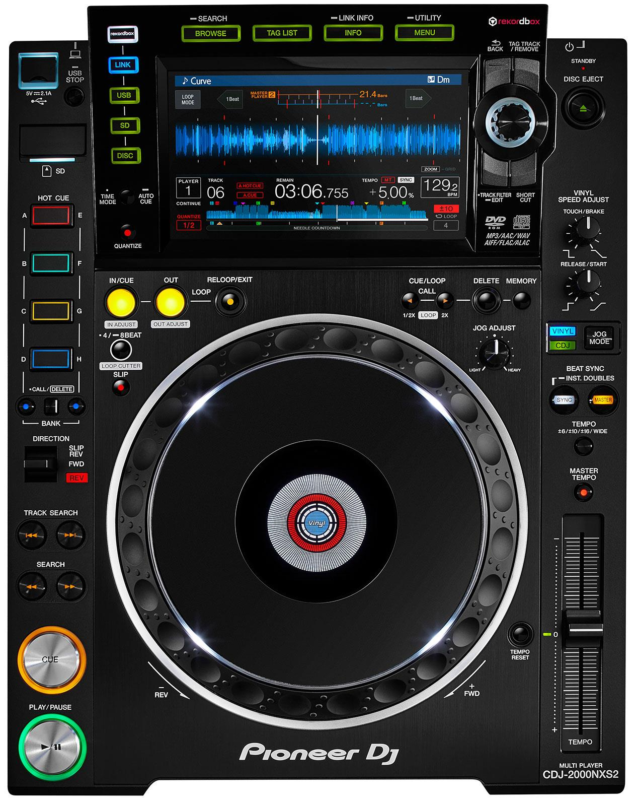 pioneer cdj 2000nxs2 keymusic. Black Bedroom Furniture Sets. Home Design Ideas