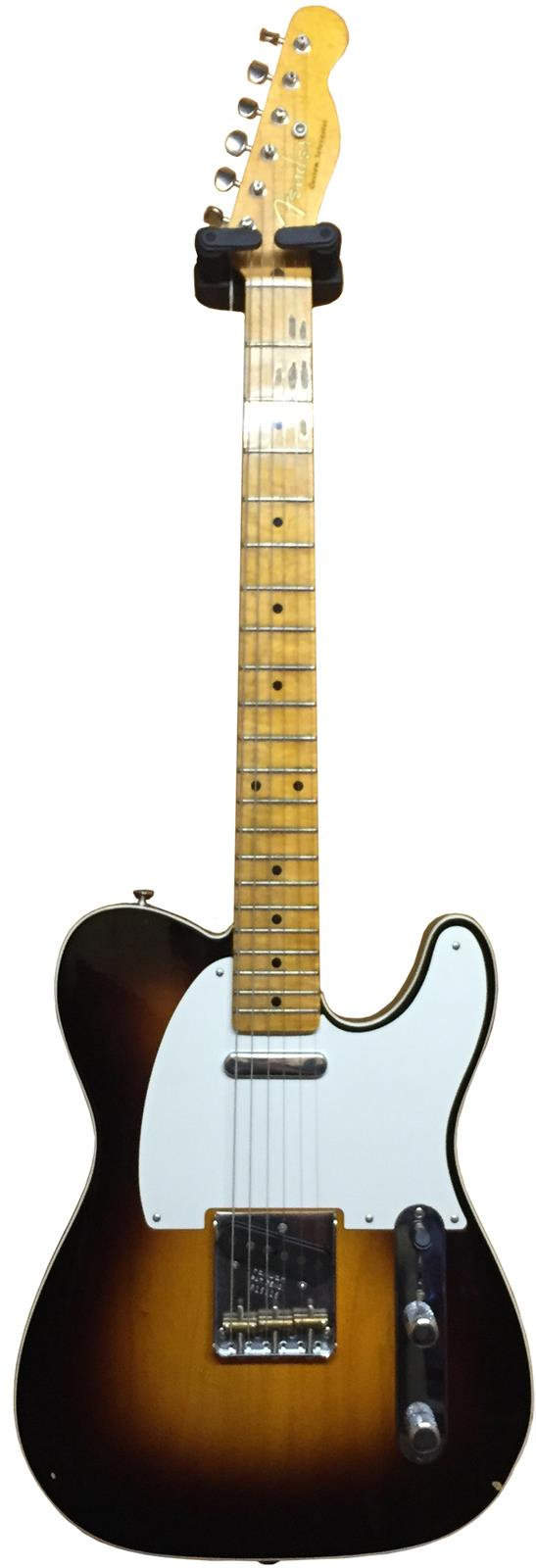 fender custom shop 50s telecaster journeyman relic 2 tone sunburst